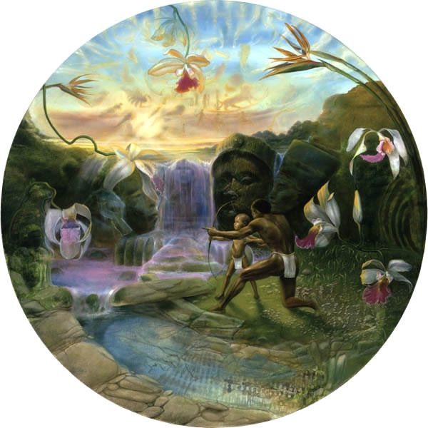 First Lesson - 23 inch diameter - limited edition print - Michael Anthony Brown