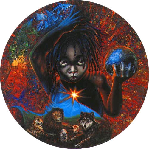 Celestial Child - 11 inch diameter - open edition print - Michael Anthony Brown