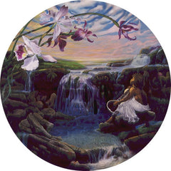 A Flowers Song - 20 inch - diameter open edition print - Michael Anthony Brown