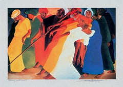 Dancing For The Lord - 22x37 print - Bernard Hoyes