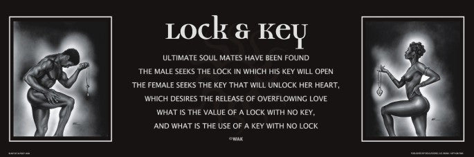 Lock and Key - statement - 36x12 print - WAK