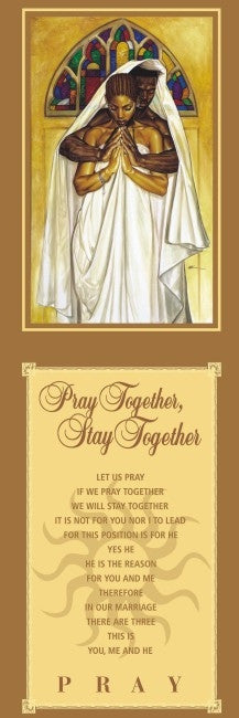 Pray Together Stay Together - statement - 36x12 print - WAK
