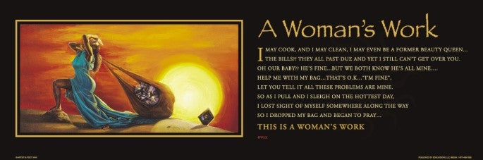 A Womans Work - statement - 36x12 print - WAK