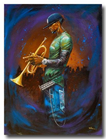 Blue Notes - 24x36 giclee on canvas - Frank Morrison
