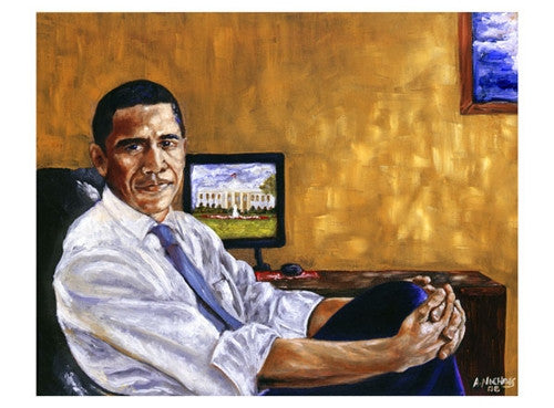 Obama Historical Journey - 17x23 - print - Andrew Nichols
