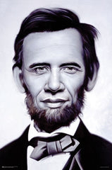 Abraham Obama - 35x23 - print - Ron English