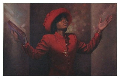 Blessed and Highly Favored - 36x24 print - Henry Lee Battle