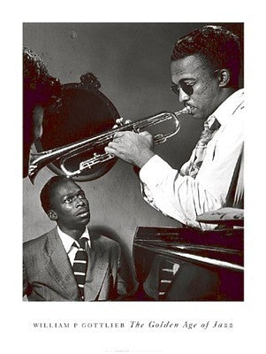 Miles Davis and Howard McGhee - 32x24 - photo poster - William Gottlieb - 2265