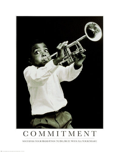 Commitment - 28x22 - photo poster - Anon