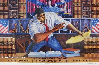 The Advocate - 17x28 signed print - Ernie Barnes