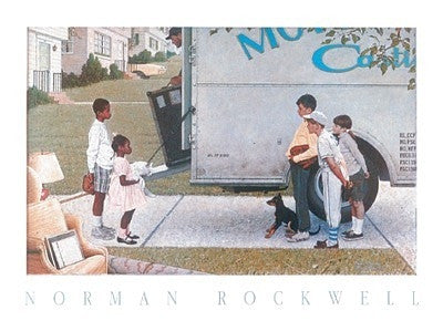 Moving In - 19x27 - print - Norman Rockwell
