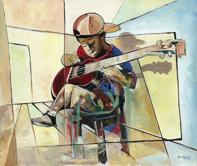 The Little Musician - 27x31 - limited edition giclee - Nathaniel Barnes