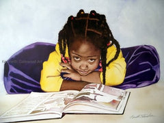 Art - Bookworm - 22x17 - limited edition print - Kenneth Gatewood
