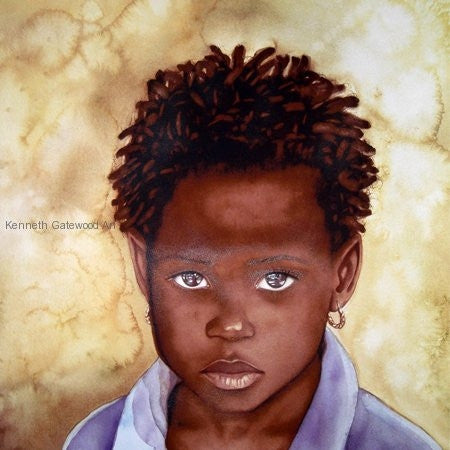 Within In Her Eyes - 22x23 - limited edition giclee - Kenneth Gatewood