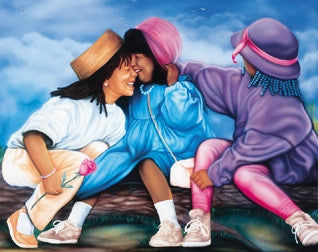 The Beauty of Friendship - 12x36 - print - Jamal Scott