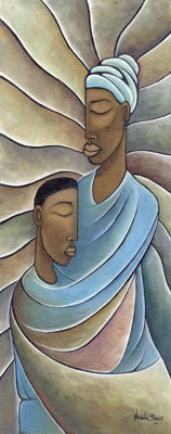 Mother and Child - 28x15 - limited edition giclee - Nathaniel Barnes