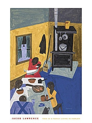 This Is A Family Living In Harlem - 24x18 - print - Jacob Lawrence