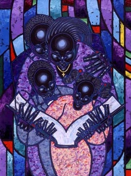 Spiritual Realm - 22x28 limited edition giclee - Larry Poncho Brown