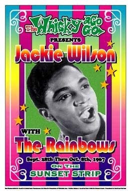 Jackie Wilson 1967 Whiskey A Go Go Los Angeles - 19x13 - concert poster - Dennis Loren