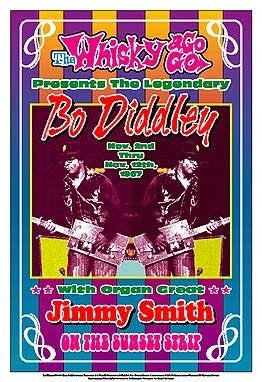 Bo Diddley 1967 Whisky A Go Go Los Angeles - 13x19 - concert poster - Dennis Loren