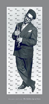 Bebop Dizzy Gillespie - 36x17 print - William Gottlieb