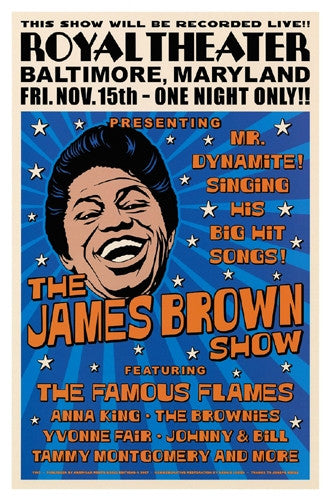 James Brown Baltimore 1963 - 22x15 - concert poster