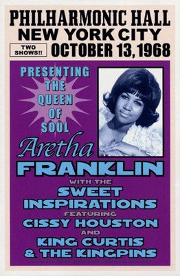 Aretha Franklin NYC 1968 - 23x15 - concert poster