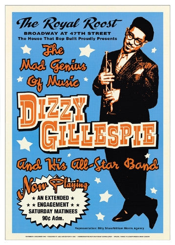 Dizzy Gillespie Royal Roost NYC 1948 - 24x17 - concert poster