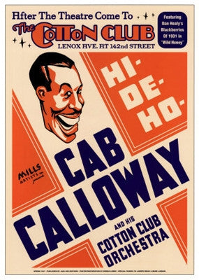 Cab Calloway The Cotton Club NYC 1931 - 24x17 - concert poster