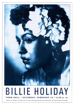 Billie Holiday Town Hall NYC 1946 - 24x17 - concert poster