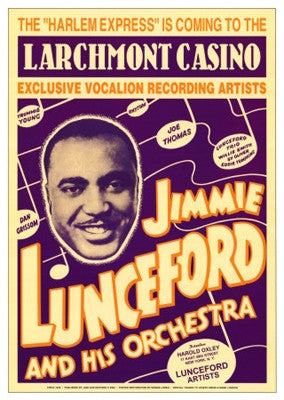 Jimmie Lunceford Larchmont Casino 1938 - 24x17 - concert poster