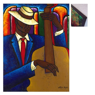 Bass Player - 30x40 - limited edition giclee on canvas - LaShun Beal