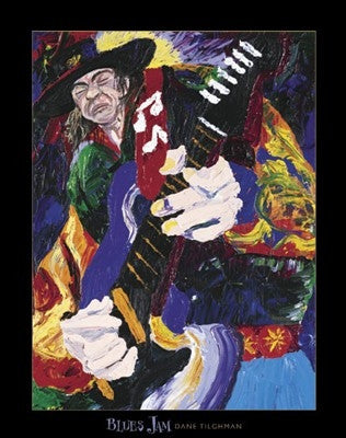 Blues Jam - 28x22 - print - Dane Tilgham