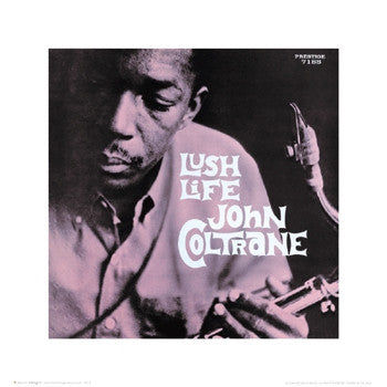 John Coltrane Lush Life - 16x16 - album cover poster - Esmond Edwards