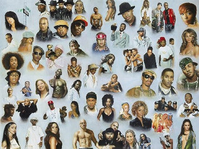 Hip Hop and R&B - 27x36 - print - Andy H