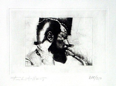 Ornette Coleman - 13x20 - limited edition etching - Robiati Maurizio