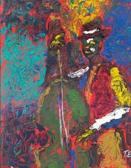 Bass Man - 24x20 limited edition giclee - Ted Ellis