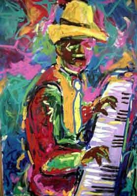 Piano Man - 33x22 limited edition giclee - Ted Ellis
