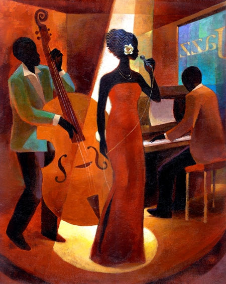 In A Sentimental Mood - 11x14 limited edition giclee on canvas - Keith Mallett
