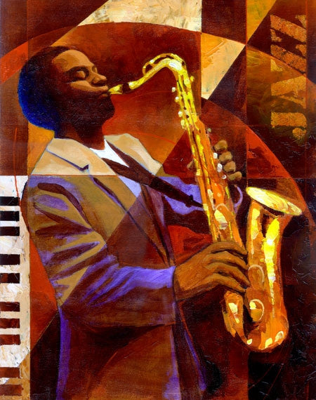 Jammin - 11x14 limited edition giclee on canvas - Keith Mallett