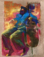Bass - 17x22 limited edition giclee - Paul Goodnight