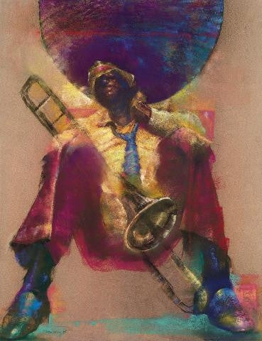 Trombone - 17x22 limited edition giclee - Paul Goodnight