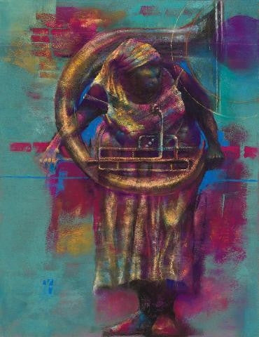Tuba - 17x22 limited edition giclee - Paul Goodnight
