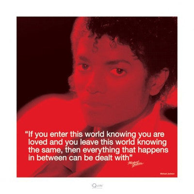 Michael Jackson Loved - 16x16 - poster - Anon