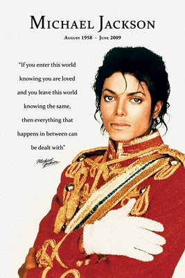Michael Jackson - Loved - 36x24 - poster - Anon
