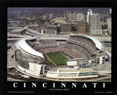 Cincinnati Ohio Bengals At Paul Brown Stadium - 22x28 - poster - Brad Geller