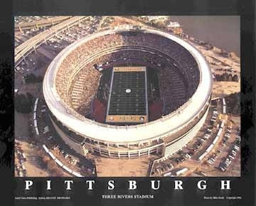 Pittsburgh Pennsylvania Three Rivers Stadium - 22x28 - poster - Mike Smith