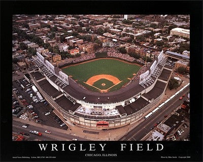 Wrigley Field Chicago Illinois - 22x28 - poster - Mike Smith