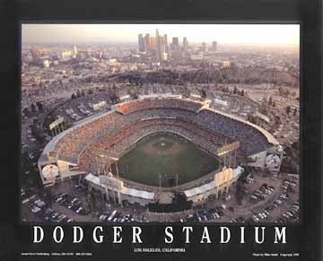 Dodger Stadium Los Angeles California - 22x28 - poster - Mike Smith