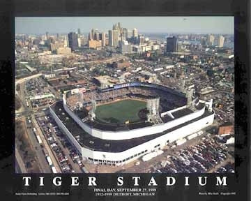 Tiger Stadium Detroit Michigan - 22x28 - poster - Mike Smith